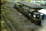 PC 9915, 9855 await next assignments at former Waverly yard.